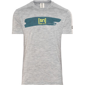 super.natural M's Graphic Tee Ash Grey Melange/Brush